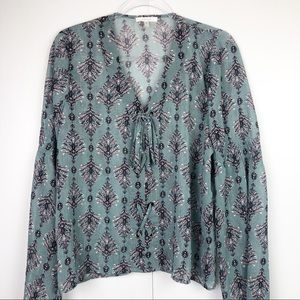 Maurice's Sheer Lace Up Top